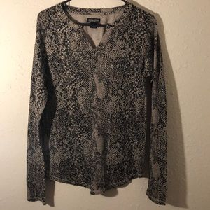 Lucky Brand Blouse (Live in Love) XL